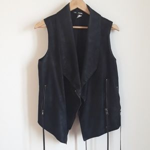 Cool leather-like vest from  H&M
